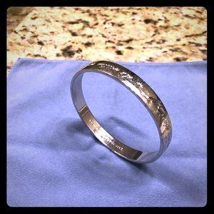 Kate Spade Silver Tone bangle bracelet
